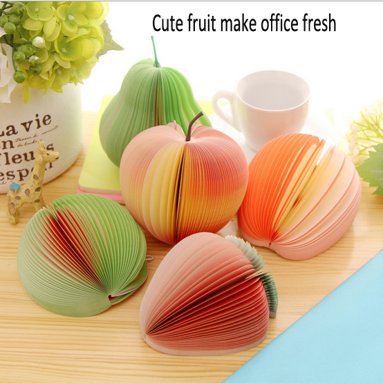 HOT 10 Fruit 3Pcs/Lot Kawaii Fruit Paper Notepad Stationery Notes Scratchpad Post it Notebook Office School Supplies(China (Mainland))