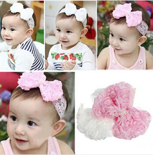 Cute Baby Girl Kid Toddler Pearl Headband Headwear Hat Accessories Rose Bow Lace Hairband Flower Headdress 1NLS