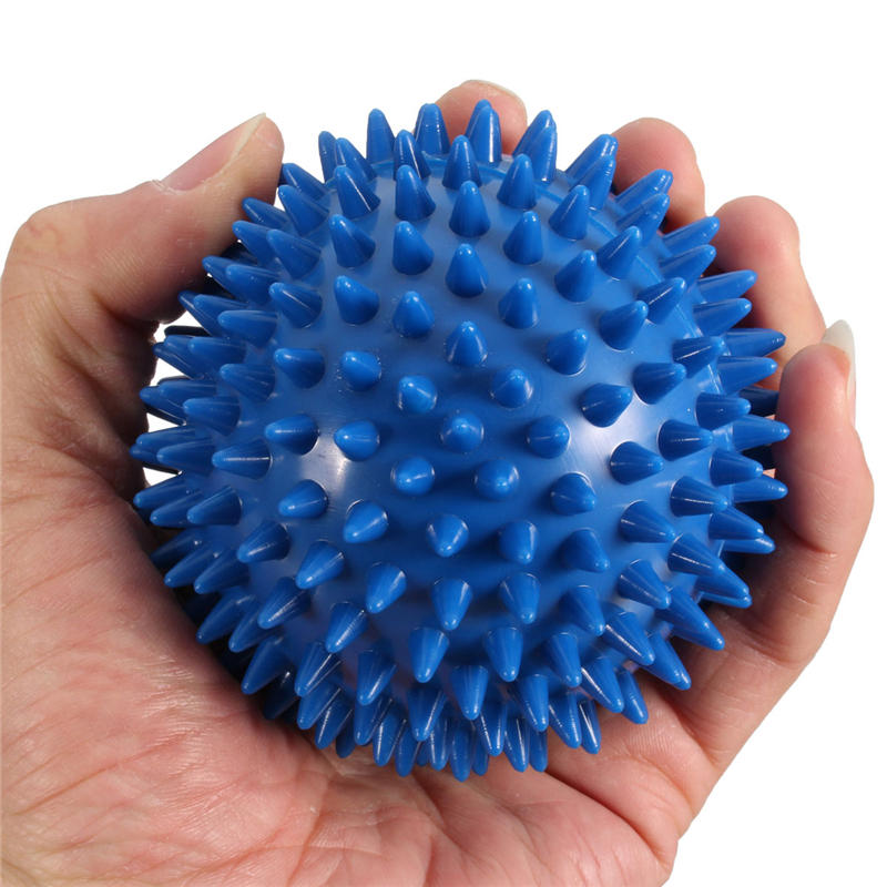 1 Pcs 9cm Spiky Massage Ball Hand Foot Body Pain Stress Massager Relief Trigger Point Health Care Outdoor Sport Toy(China (Mainland))