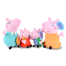 Kawaii anime Pinik Pig Family Father & Mother Peppa Pig and George Pig Plush Toy doll Chrismas gifts for kids free drop shipping(China (Mainland))