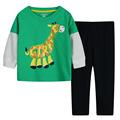 спортивный костюм для мальчика Брендовый костюм из хлопка в полоску для мальчика осень 2015 гарнитур. Модные теплые костюмы для детей  Детская зимняя одежда для мальчиков одежда для детей мужской костюм