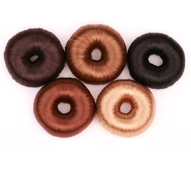 Stylish Fashion Blond Doughnut Wig Hair Band Hairpiece hair bun maker(China (Mainland))