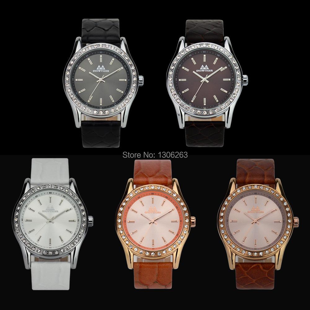 Горячая Luxury Brand Алмаз Orologio Мода Горный Хрусталь Часы Женщины Повседневная Кожа Часы Женские Кварцевые Дамы Наручные Часы