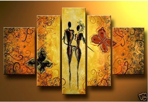 store product Hand Painted Butter fly lover story MODERN ABSTRACT CANVAS ART OIL PAINTING wall decoration oil painting