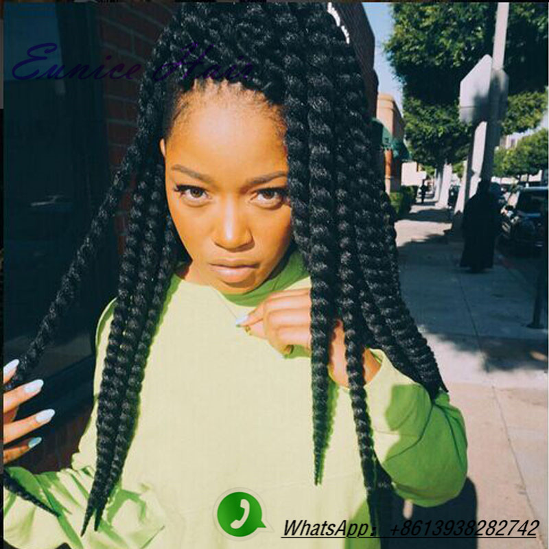Full Head Crochet Box Braids : Aliexpress.com: Acheter ( 6 pecas ) havane mambo twist crochet tresse ...
