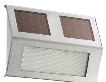 8pcs/lot Good quality Solar wall light with 2LED + stainless steel for staircase,fence,Garden,wall decoration