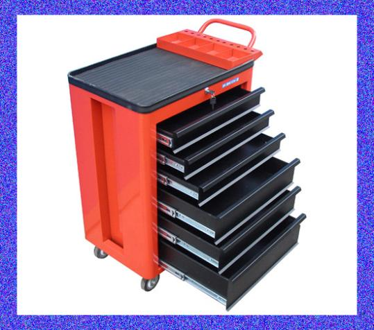 Factory Direct / Rounded six pumping tool cart / mobile tool cart . Tool cabinet / metal tool cabinet table(China (Mainland))