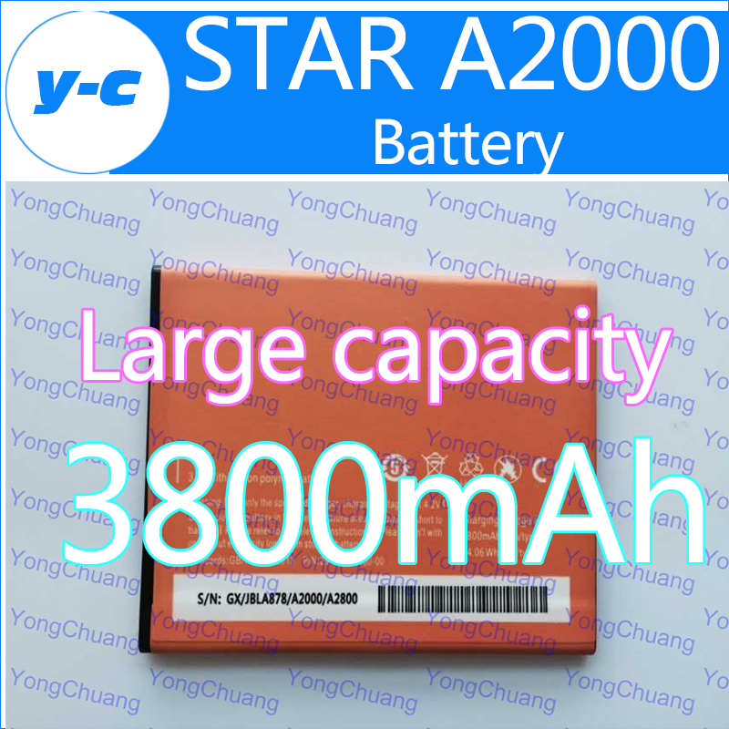 Star A2000 battery New Original Large capacity 3800mAh Backup Bateria Batterij Battery For STAR A2000 A2800 phone-Free Shipping(China (Mainland))