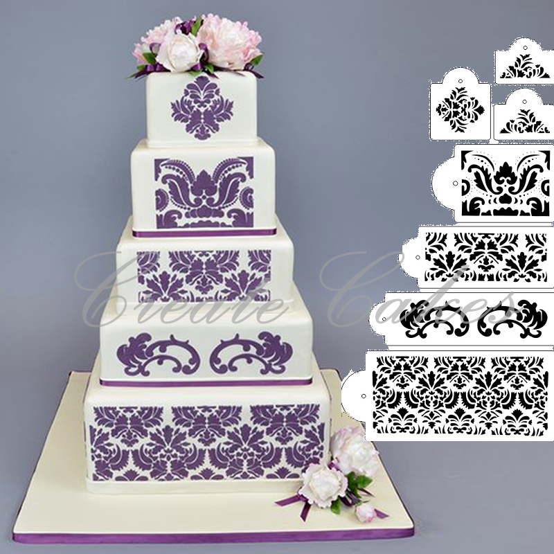 Cake Border Stencils Set Cake Decorating Stencil Mold Wedding Cake