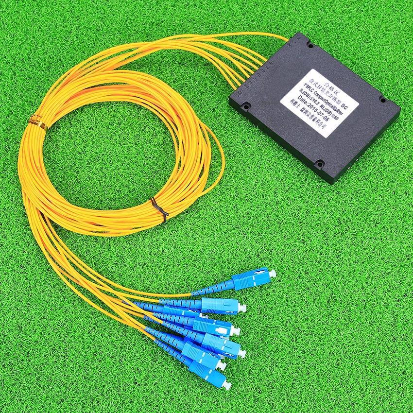 1x 8 PLC Box Fiber Optical Splitter Telecommunication Fiber Splitter 1 points 8 cassette optical splitter(China (Mainland))