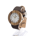 BoboBird Brand Designer C01 Zebra Wooden Watch Japan Moven t Quartz Watches with Leather Band Luxury