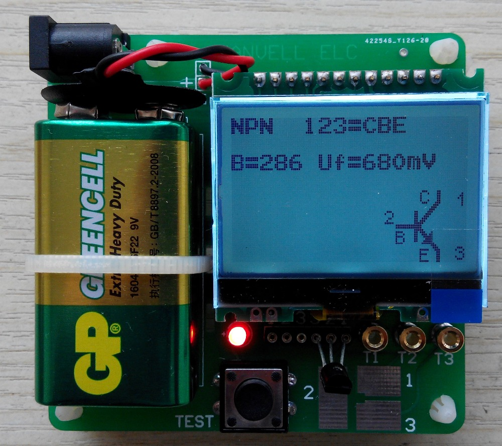new version of inductor-capacitor ESR meter DIY MG328 multifunction test(China (Mainland))