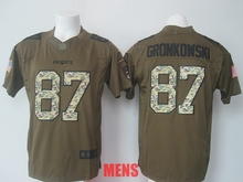 100% Stitiched,New England ,Rob Gronkowski for youth kids,women and mens camouflage(China (Mainland))
