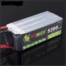 RC Lipo battery 6S 22.2v 5200mah 30C for RC airplane and helicopter factory-outlet goods free shipping