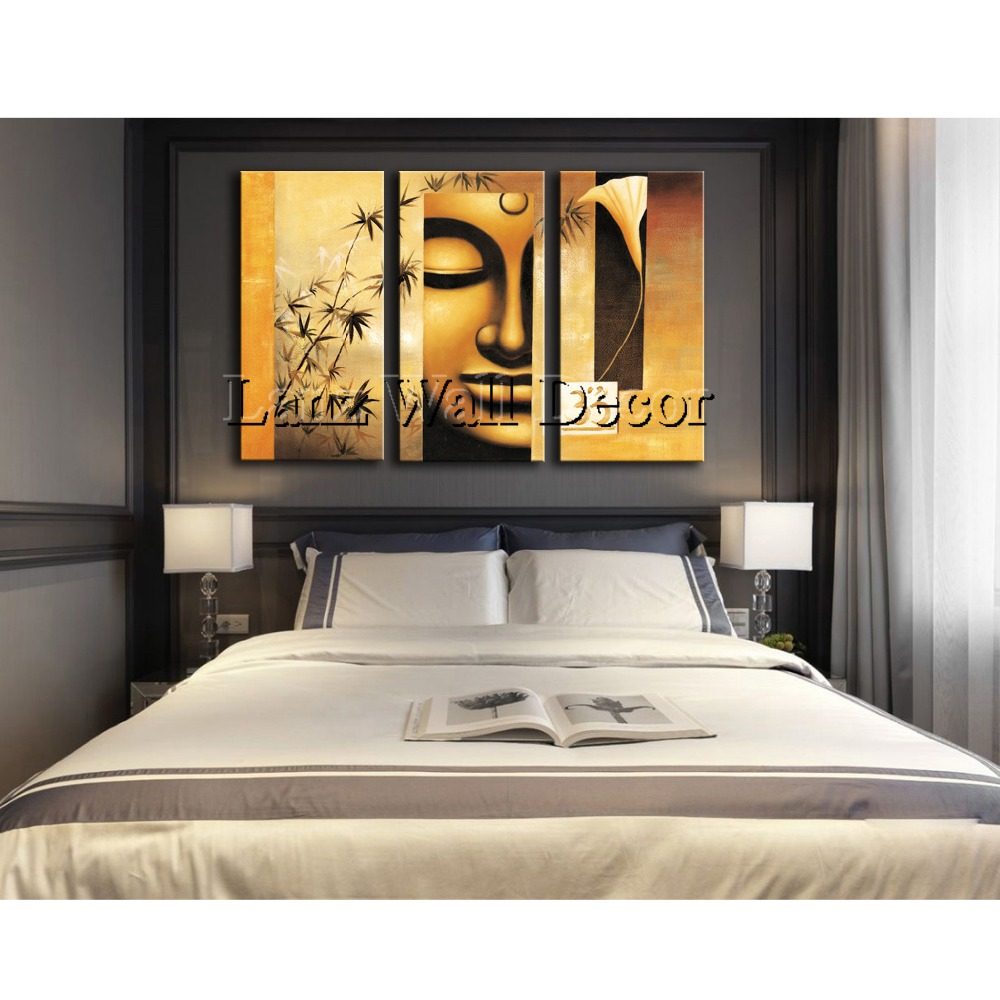 Geen houten frame 3 stuks abstract boeddha moderne kunst muur ...