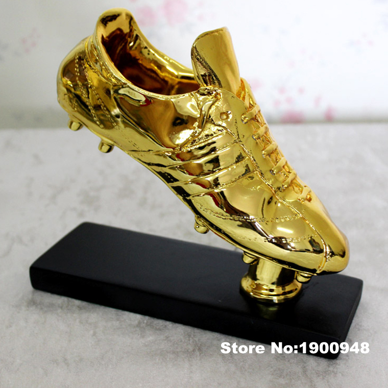 Trophy cup World Golden Boots Trophy real Scale 1:1 Football Soccer Souvenirs for Soccer Match Award Collectible The Best player(China (Mainland))