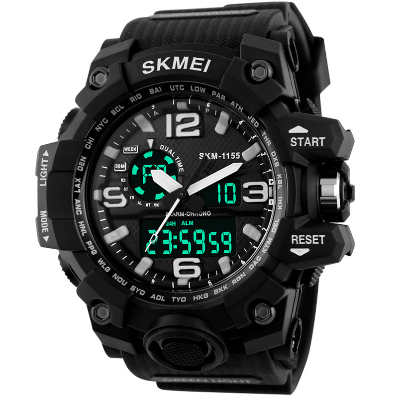 Sports Watches Men's Chronograph Military Army Wristwatches SKMEI Analog LED Digital Watch relogio masculino Clock(China (Mainland))