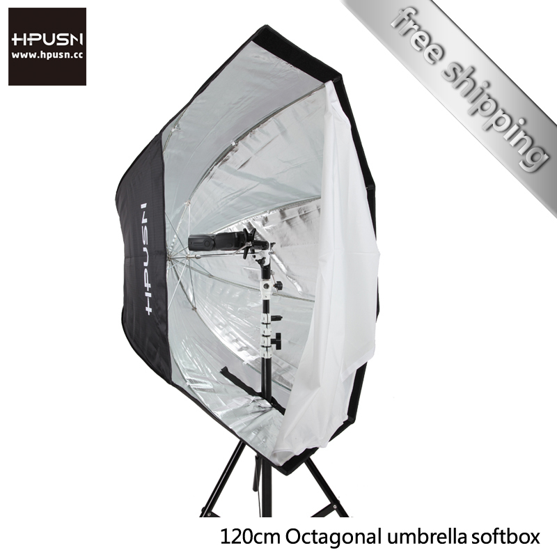 hpusn photography 120cm octagonal softbox reflective silver studio umbrella photo lighting