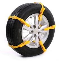 10Pcs/Set Universal Adjustable Auto Car SUV Snowblower Tire Snow Chains Mug Ice Road Ground Anti Wheel Slip Chain For 175-295 mm(China (Mainland))