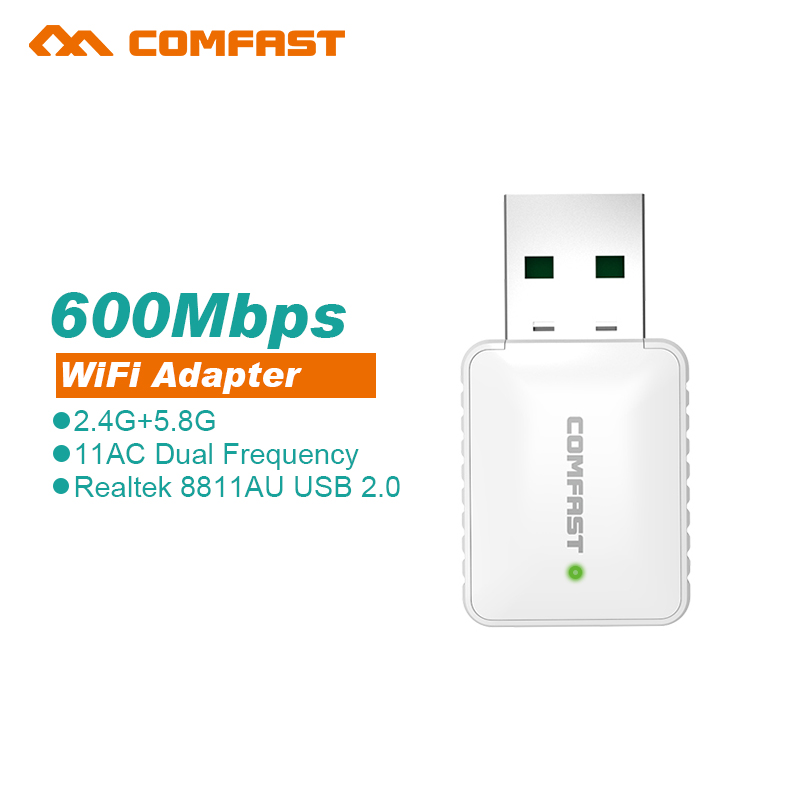 Mini USB WiFi Adapter 600Mbps 802.11ac Wi-Fi adapter 5 GHz usb wifi antena wifi Wireless Network LAN Card for computer pc receiv(China (Mainland))