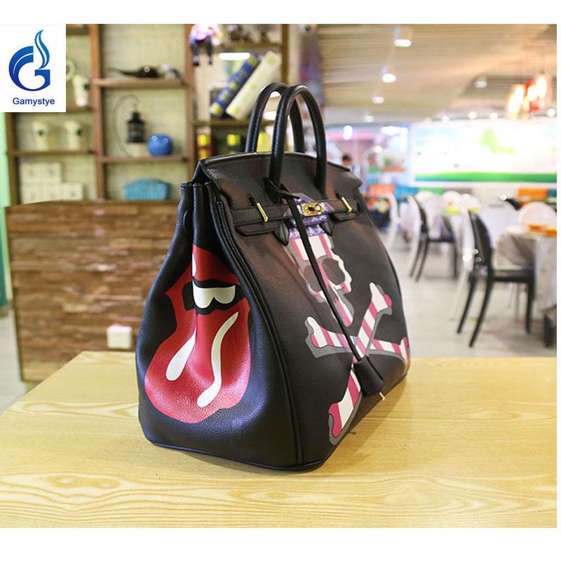 GAMYSTYE luxury handbags women bags designer Graffiti rock skull Women Messenger Bags Hand Painted art bag totes Graffiti Custom<br><br>Aliexpress