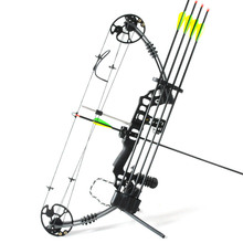 Hunting bow arrow set compound bow Peep hole 5 pin sight bow rest Rubber stablizer Dampers