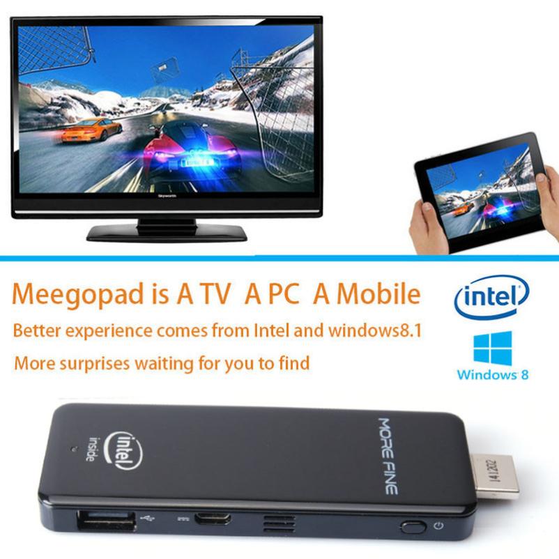 Hot selling MOREFINE M1 Mini PC Smallest Desktop Computer Intel Window8.1 Quad-core 2/32G(China (Mainland))