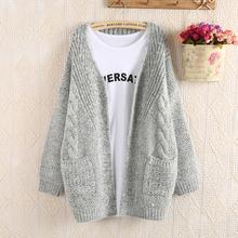 Early Autumn 2015 Korean Style Women Twist Sweater Ladies Batwing Sleeve Cardigans Sweaters Plus Size
