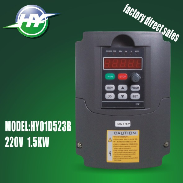 HUANYANG VFD 1500watt 2HP1.5KW 220V Inverters 7A Variable Frequency Drives 0-400Hz frequency converter()