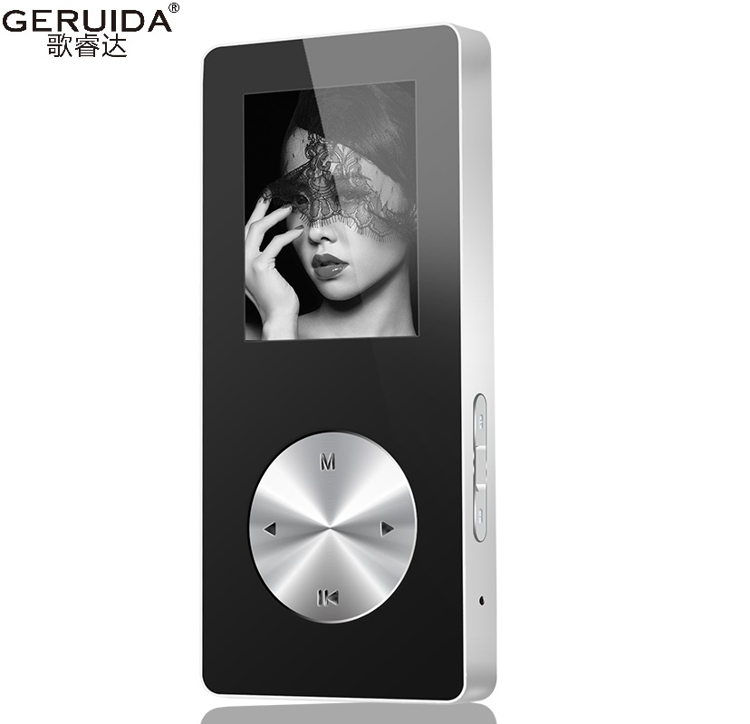 GERUIDA NEW MP4 Music Player, Full Metal MP4 Player 16GB With Voice Recorder Lounspeaker Support TF Video FM Watch Game Armband(China (Mainland))