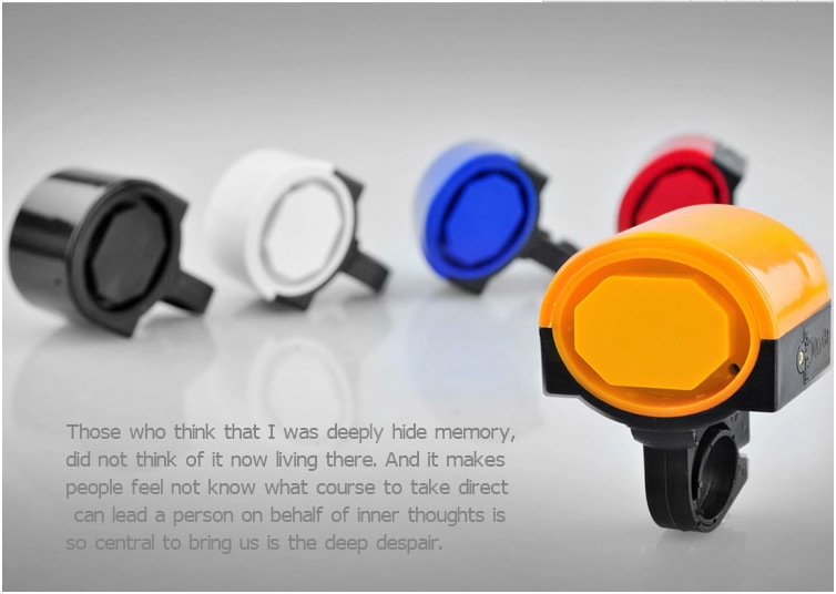 Free Shipping Ultra-loud MTB Road Bicycle Bike Electronic Bell Horn Cycling Hooter Siren Accessory Blue/Yellow/Black/Red/White(China (Mainland))