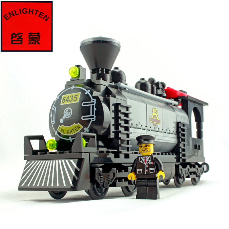 model steam train collection assembled toy building blocks(China (Mainland))