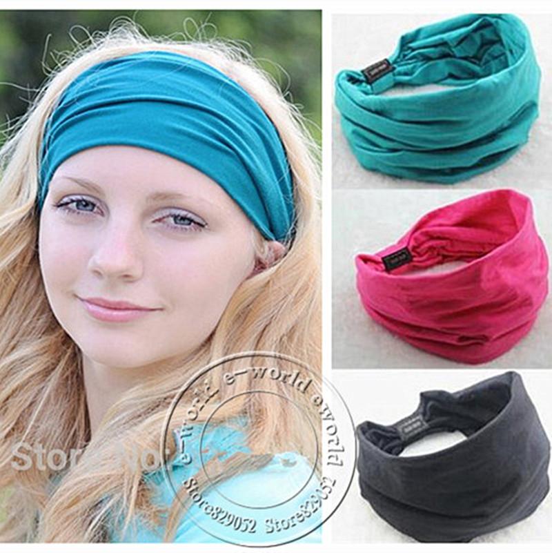 How to wide wear elastic headbands fotos