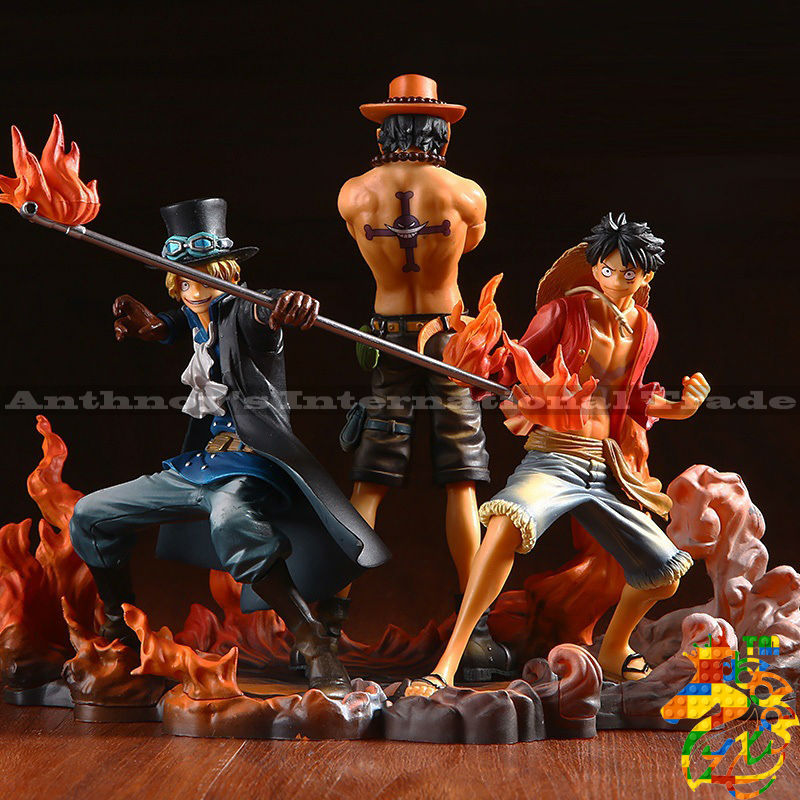 ZXS One Piece Figure Ace Luffy Sabo Collectible Action Figure Japanese Anime Figure PVC Cartoon Figurine One Piece Toys Juguetes(China (Mainland))