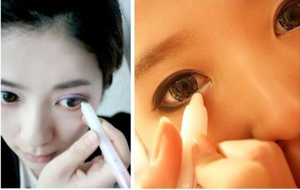 White Eyeliner Pencil Cosmetic white pen brighten makeup glitter sexy Eye liner bright colored eyeliner eye pencil(China (Mainland))