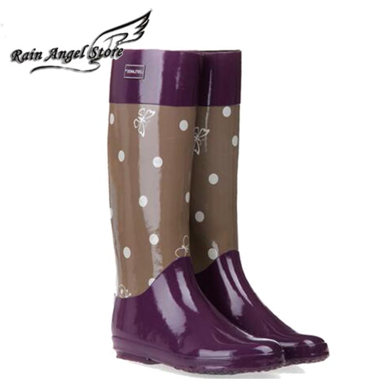 womens four seasons paragraph gaotong rubber rainboots elegant rain boots 2 liner<br><br>Aliexpress