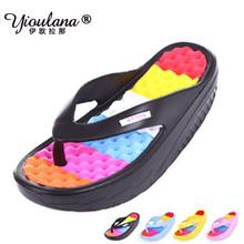 New summer sandals women shoes platform wedges slimming swing shoes high heels hole shoes flip flops discount 50%