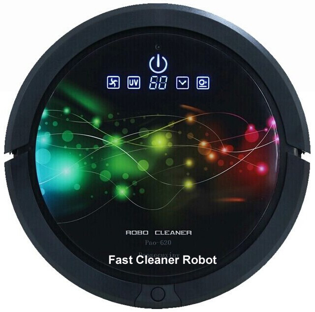 "(Free To Russia)2015 Most Powerful A Robot Vacuum Cleaner With The ""KING "" of suction power QQ6 series With Newest Turning Mop(China (Mainland))"