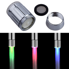 Buy A6 different temperature different color LED temperature sensing shower faucet 3 color lighting bathroom kitchen supplies for $6.64 in AliExpress store