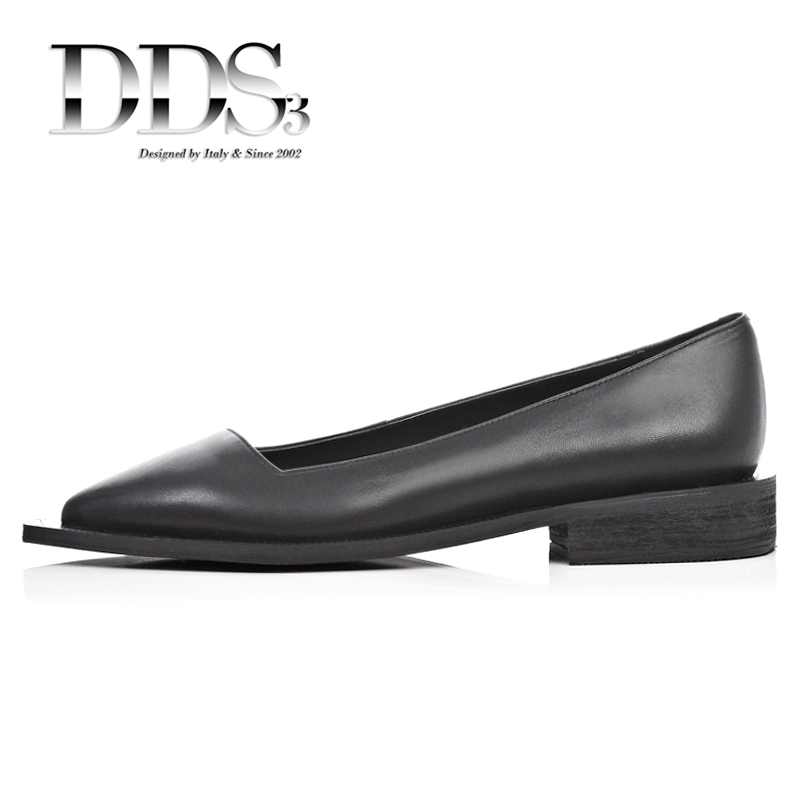 DDS3 Women Loafers Black White Genuine Leather Pointed Toe Flats Women Fashion Slip On Shoes Woman Flats Ladies Loafers Females<br><br>Aliexpress