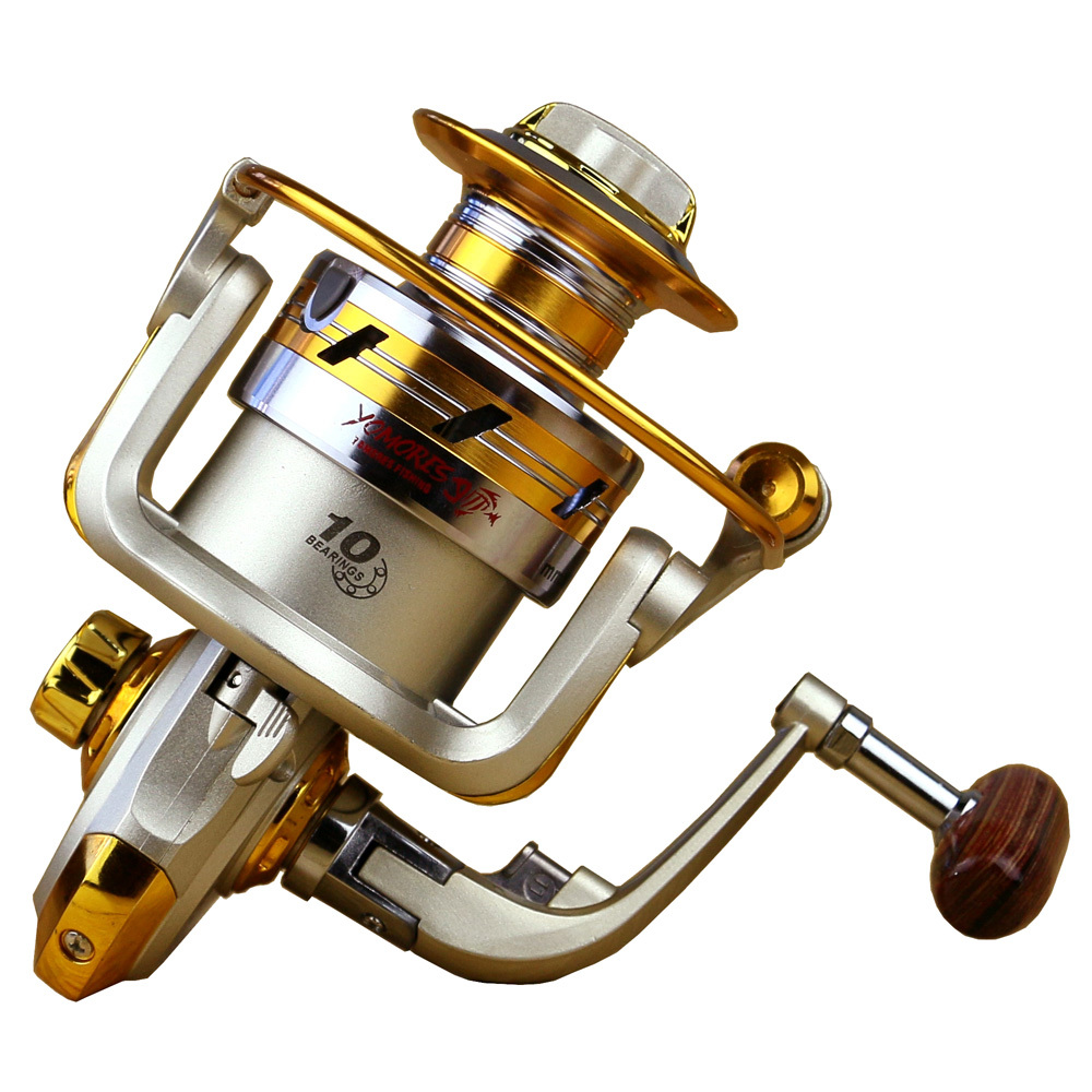 2015 NEW EF1000 EF7000 Metal Spool Spinning Fishing Reel High Speed 10BB Cheap Spinning Reels Fishing