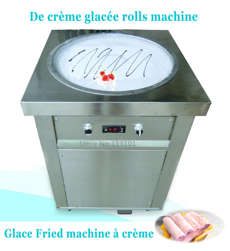Single pan fried ice cream machine for Delicious Fruit Juice Ice Cream Rolls making 220V50Hz <br><br>Aliexpress