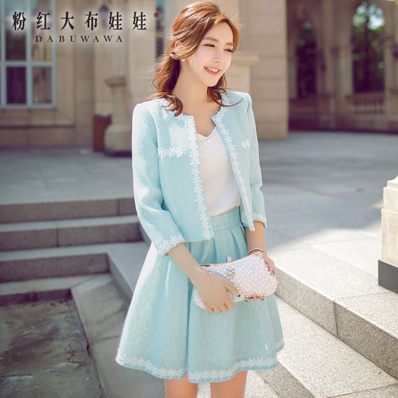 A short coat Pink Doll fall 2015 dress new slim lace long sleeved jacket female temperament in autumn
