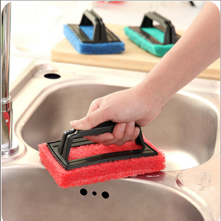 Kitchen cleaning brush with handle powerful cleaning decontamination pool bath brush Suction Cup Base Kitchen Brush Sponge Sink(China (Mainland))