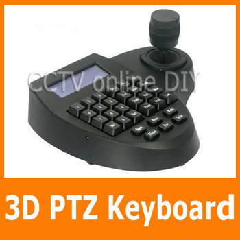 Securiy CCTV 3D PTZ Controller Keyboard with RS485 RS232 RJ45 Port