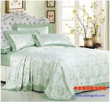 Light green 100% Bamboo sheets bedding set leaf print bed cover designer mat pillowcase bedsheet  summer 3pcs luxury 20 designs(China (Mainland))
