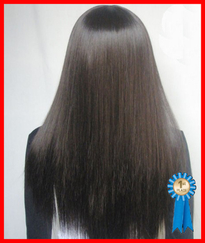 28inches 210G Silky straight Natural black #2 Synthetic wigs, free shipping
