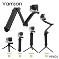 Vamson for Gopro Accessories Tripod 3 Way Monopod Mount Extension Arm Tripod for Gopro Hero5 4