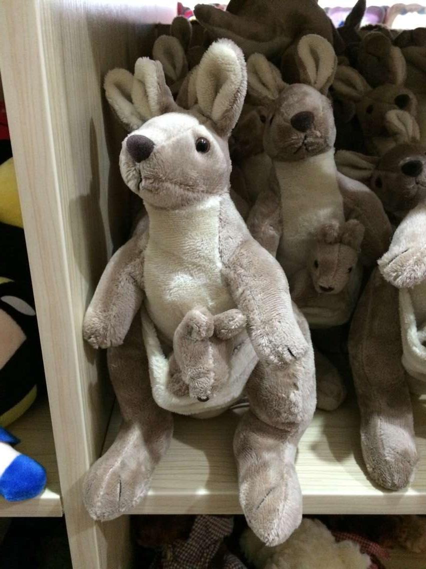 Hot sale 30cm Australian mother son kangaroo plush toy children gift birthday one piece free shipping(China (Mainland))