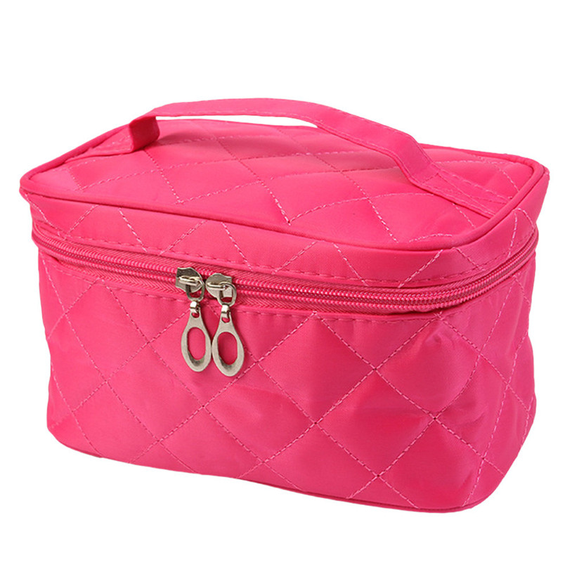 Square Case grain Of Pure Color Cosmetic Bag makeup organizer boite de rangement U6621(China (Mainland))